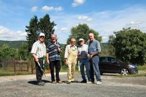Dabei waren (von links): Rudolf Rissel, Willi Müller, Falk Weiler, Manfred Richter und Paul Michel