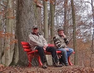 Rainer Bersch und Peter Kiessling beim ersten Bank-Stresstest