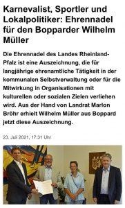 Ehrennadel für Willi Müller